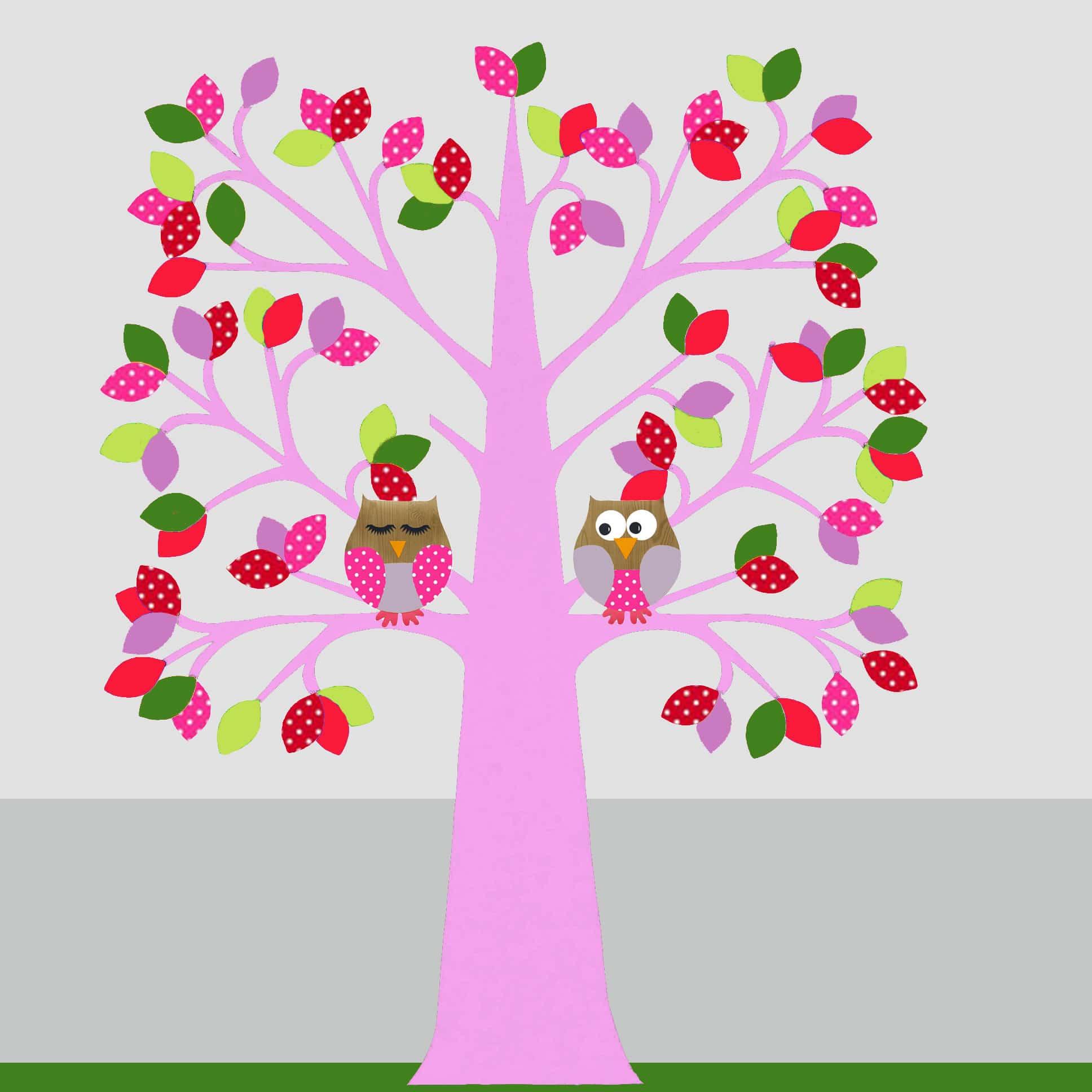 mijnkinderkamer - behangboom uil