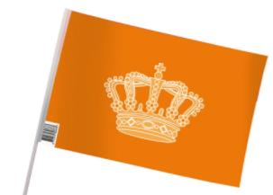 Oranje vlag en versiering om trots op te zijn. Zeer scherpe prijs. | De Oranjeartikelenshop
